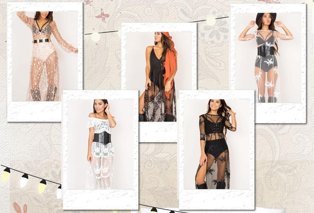 Festival Sheer Maxi Dresses